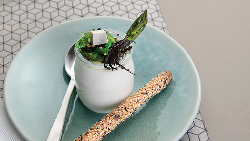 Yaourt tofu et wakamé